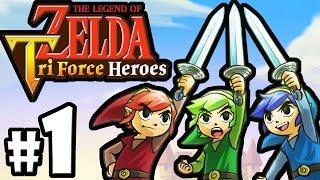 The Legend of Zelda Triforce Heroes PART 1 Gameplay Walkthrough Online Co-Op (Story Intro) 3DS