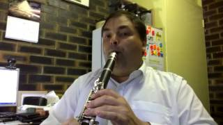 SECRET FOOTAGE - Archie Luxury playing the Clarinet