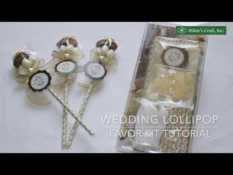 Elegant and Chic Wedding Lollipop Party Favor Idea