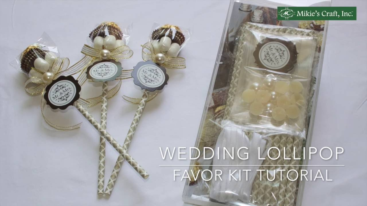 Elegant and Chic Wedding Lollipop Party Favor Idea YouTube