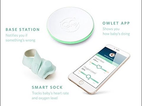 Owlet Smart Sock 2 Baby Monitor - Track Your Infant's Heart Rate and Oxygen Levels