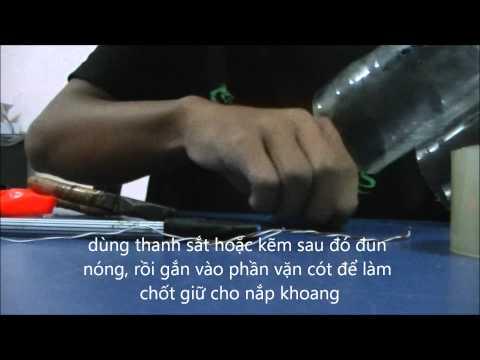 Hướng dẫn làm bộ phận bung dù bằng dây cót cho tên lửa nước