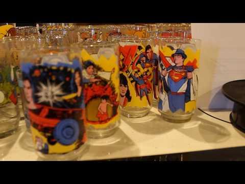 1978 Superman The Movie Glass Set