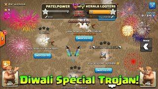 Diwali Special Trojan War In Clash Of Clans  60 Attacks In  Last 10 Min