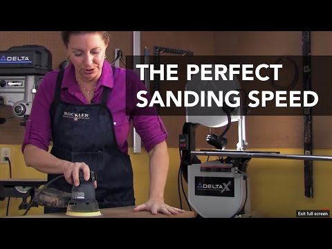 How Fast Should You Move Your Sander?
