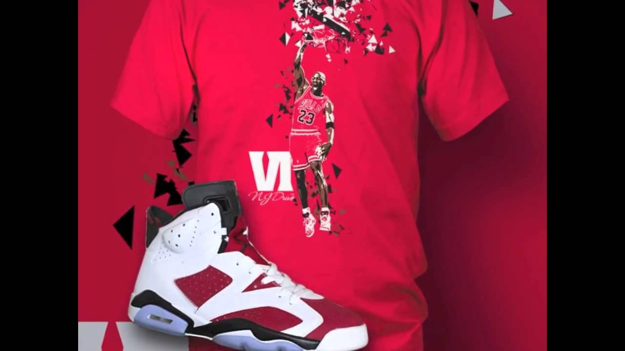 Michael Jordan dunks in Air Jordan Carmine 6 - YouTube fdd6e4d9ed18