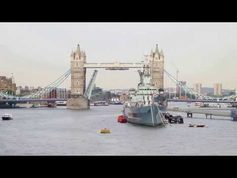 Silver Cloud cruise ship passing under Tower Bridge