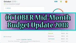 October 2018 Budget Update: Increasing Categories (Debt: -$28,631.45)