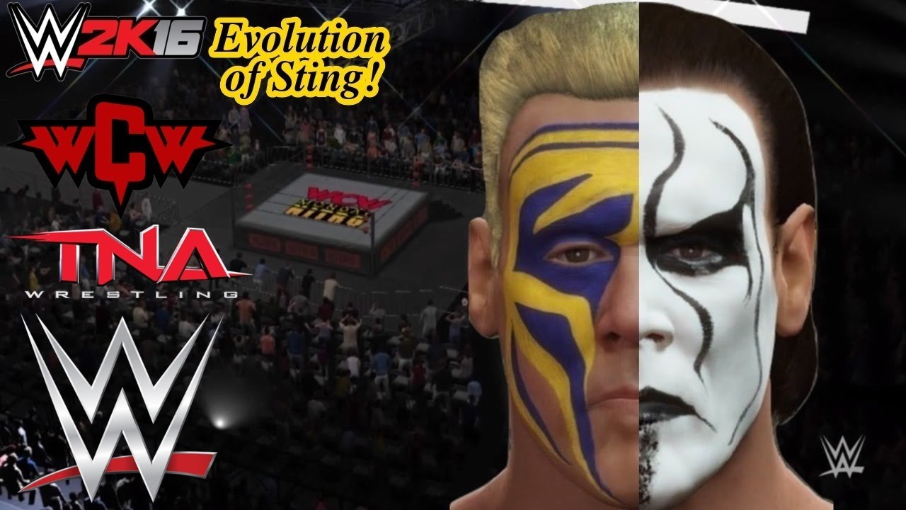 wwe 2k16 evolution of the icon sting wcw to tna to wwe ps4