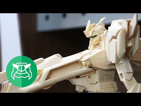 It takes a hundred wooden chopsticks to make a Gundam?