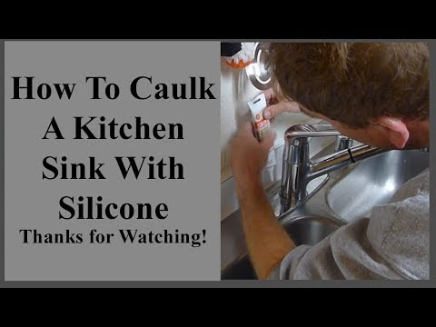 WWW.DDC-DIY.COM  How To Caulk A Stainless Steel Kitchen Sink With Silicone Caulking DIY Hacks