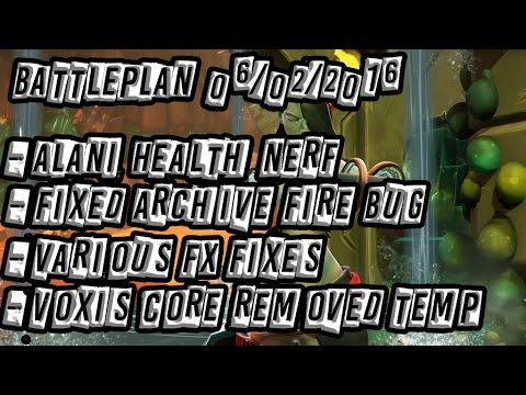 Battleborn Battleplan 06/06/2016: Alani Health Nerf, Archive Fire Fix, FX fixes, and more