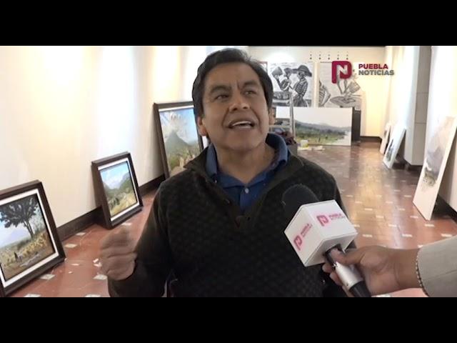 #PueblaNoticias Hermosos paisajes se exponen en el Barrio del Artista