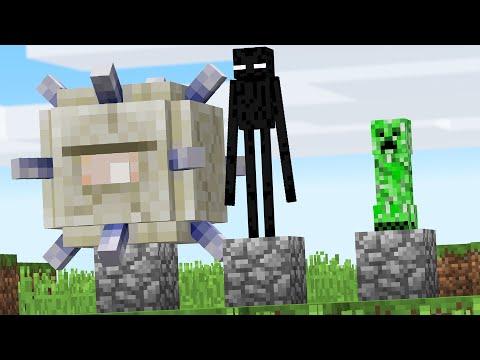 Minecraft but placing Blocks spawns RANDOM Mobs