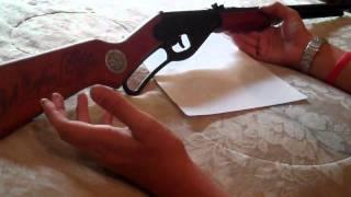 daisy red ryder bb gun, historical fun.