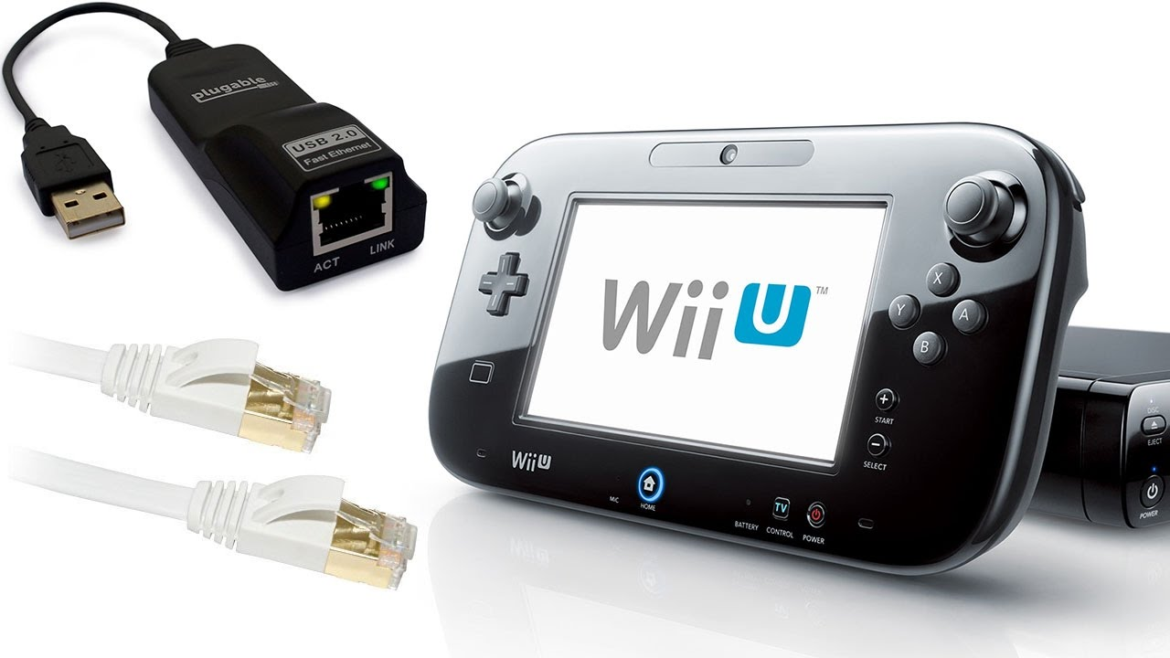 How to CONNECT WII U ETHERNET ADAPTER LAN (WIRED) - YouTube