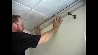 Tin Ceiling Installation (Complete SnapLock Video)