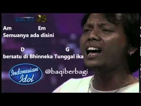 Pujiono Manisnya Negeriku LIRIK & CHORD Soundtrack Indonesian Idol