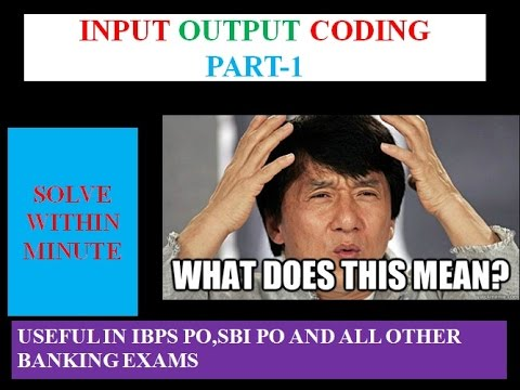 Machine Input Output Reasoning For Bank Po In Hindi Part 1 Youtube