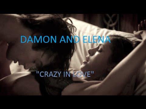 Damon and Elena - Crazy In Love (Lyrics)