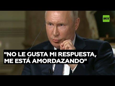 """Putin al reportero de la NBC: """"No quiere que mi respuesta sea escuchada por su audiencia"""""""