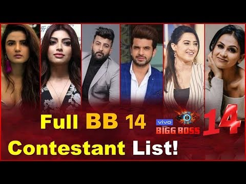 Bigg Boss 14 Makers Revealed The List Of Contestants | BB 14 ...