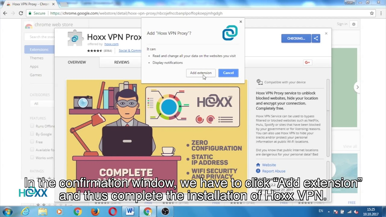 hoxx vpn pour chrome