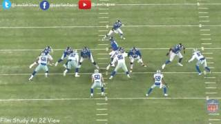 Dallas Cowboys VS NY Giants All 22 Film 2016