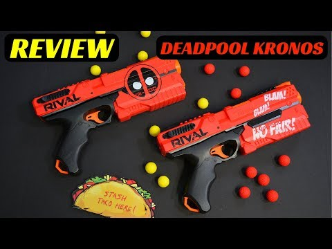 [Review] Nerf DEADPOOL RIVAL KRONOS (with Unboxing, FPS & Range Test and TACOS!!!)