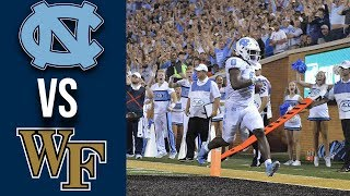 Week 3 College Football North Carolina vs Wake Forest Full Game Highlights