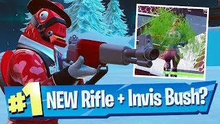 Infantry Rifle Gameplay, Invisible Bushes + FREE Battle Pass?! - Fortnite Battle Royale
