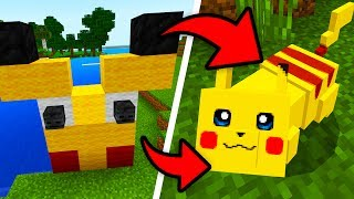 How To Spawn PIKACHU In Minecraft Pocket Edition (Pokemon Addon)