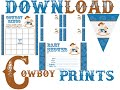 Free Cowboy Baby Shower Prints - Invitations, Games & Decorations!