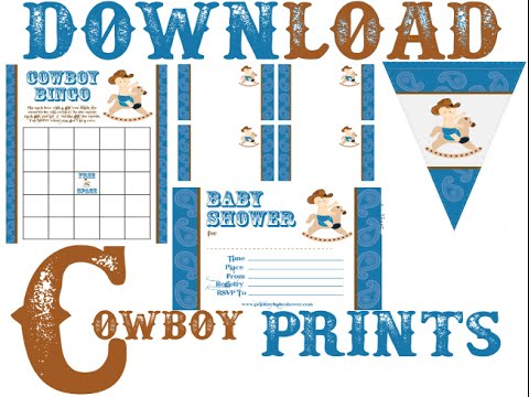 Free Cowboy Baby Shower Prints - Invitations, Games ...
