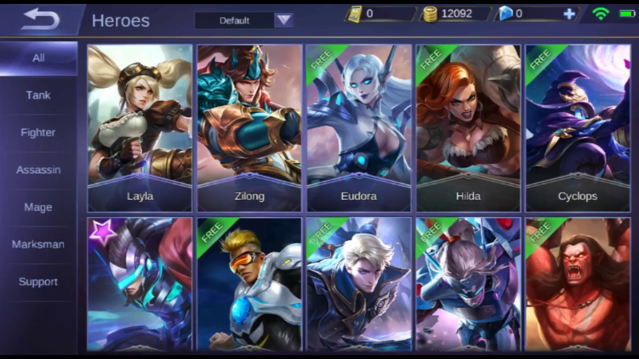 mobile legends bang bang : all heroes (as of january 2018