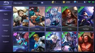 Mobile legends bang bang : All heroes (as of January 2018)