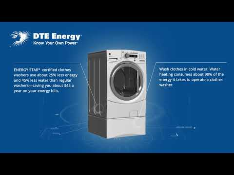 ENERGY STAR® certified clothes washers save energy