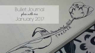 bullet journal 2017 set up   plan with me january 2017   new bujo set up