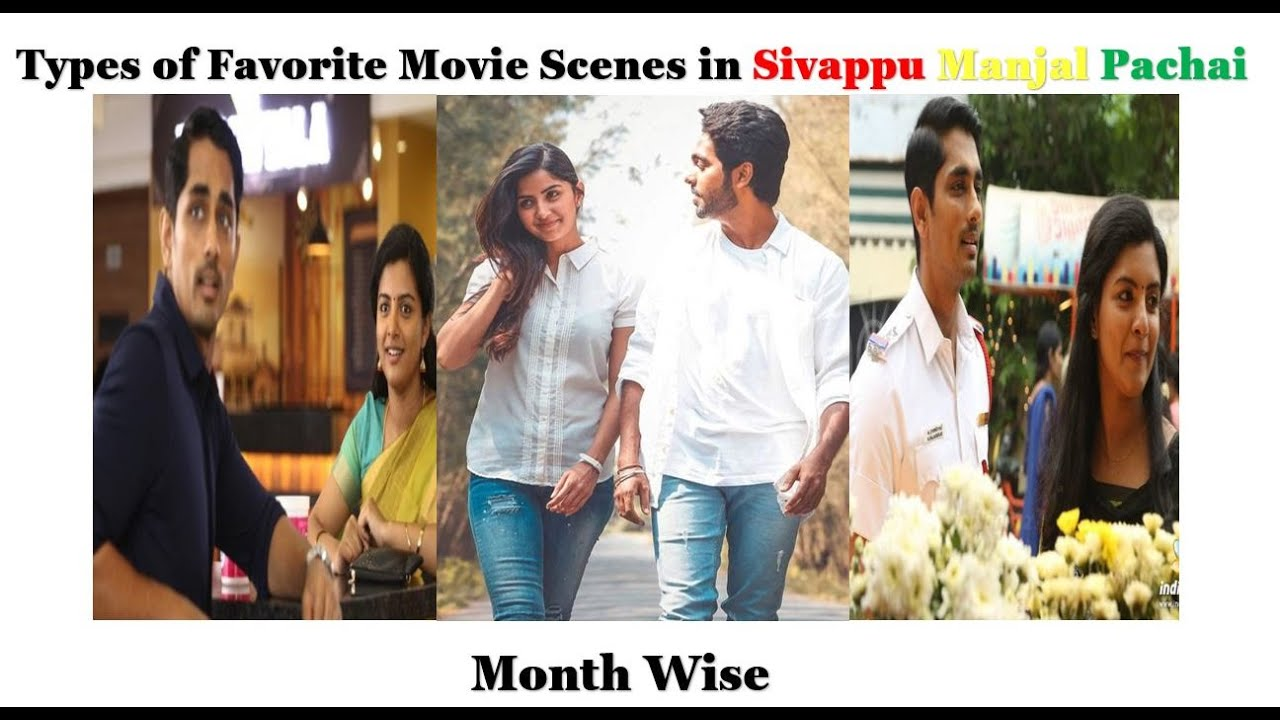 Types of Favorite Movie Scenes in Sivappu Manjal Pachai Month wise