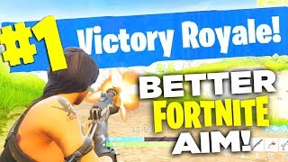 Fortnite: How to FIX YOUR AIM! (Fortnite Battle Royale Tips and Tricks to WIN)