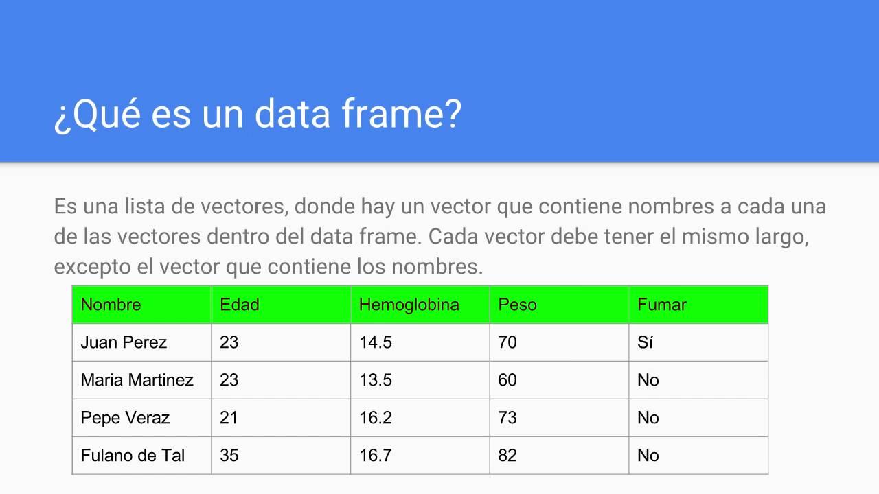 El uso de Data Frames en Python y en R - YouTube