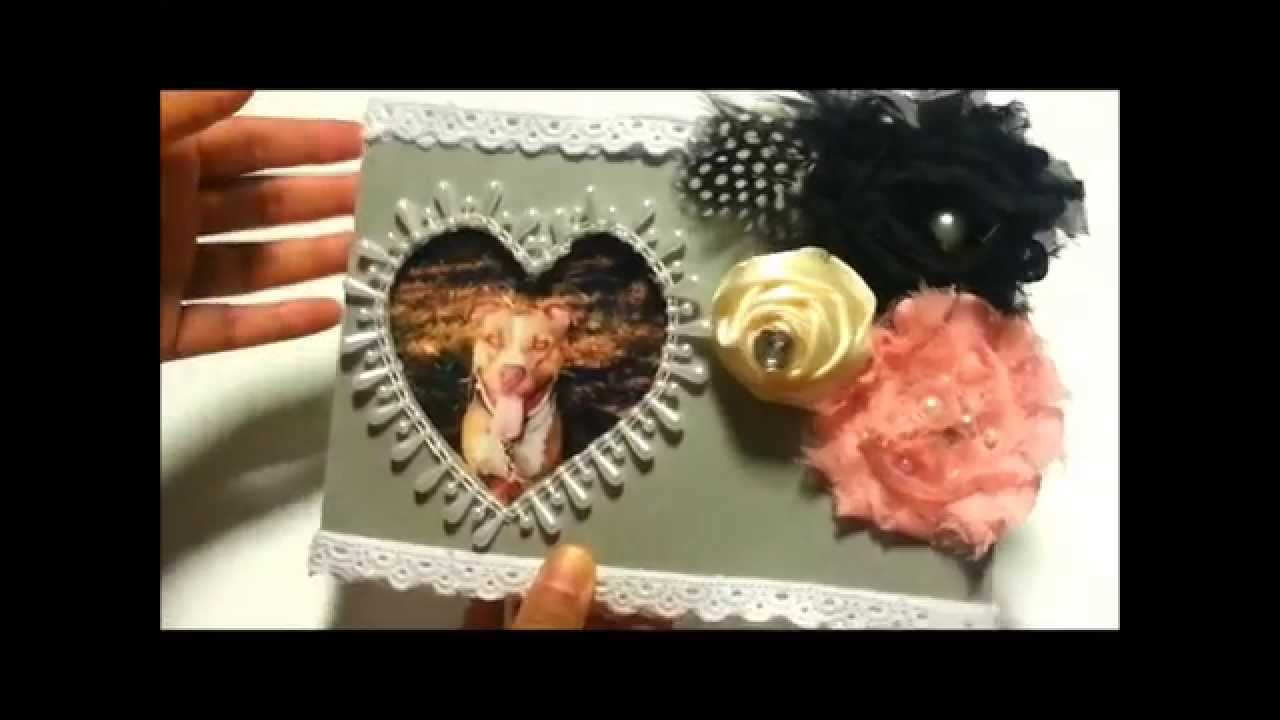 DIY} Heart Frame Recycled Materials - YouTube