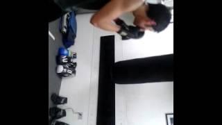 Alumno en practicas de Boxeo
