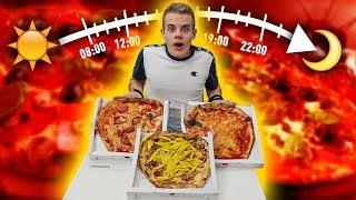 🍕 MANGIO PIZZA ad ogni ORA per UN GIORNO!