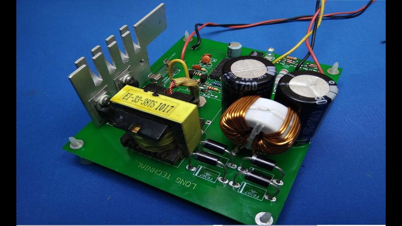 HANDMADE CAR AMPLIFIER CIRCUIT SG3525 DC TO DC CONVERTER 12V to +- 30V