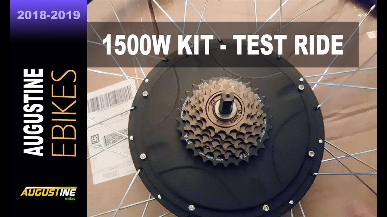 electric bike review 1500w 52v e bike conversion kit youtube. Black Bedroom Furniture Sets. Home Design Ideas