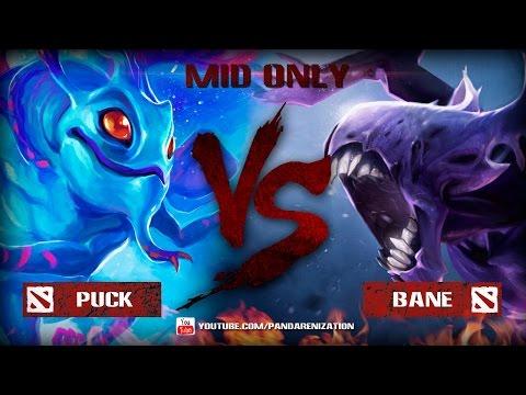видео: puck vs bane [Битва героев mid only] dota 2