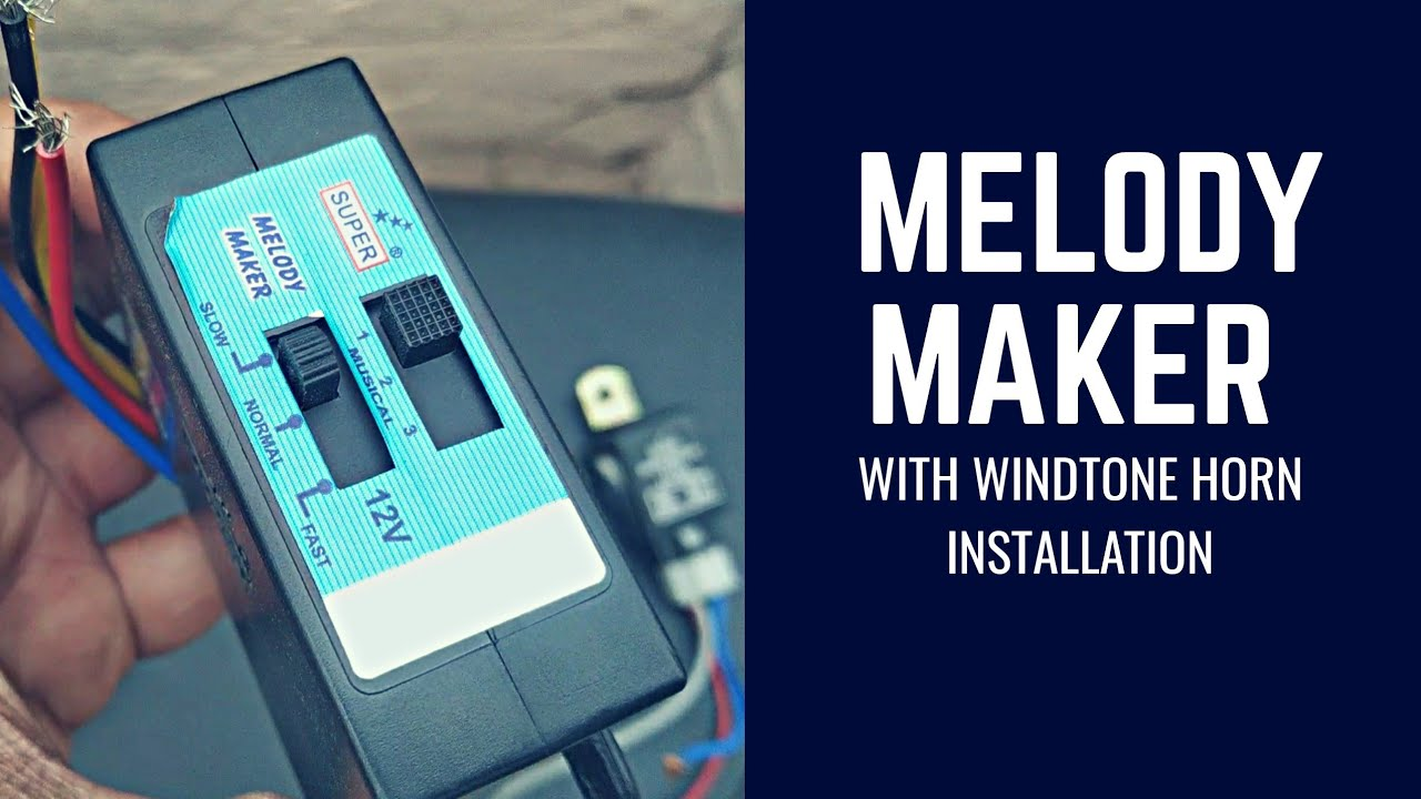 [ANLQ_8698]  How to install |melodymaker| with |windtone| horn in motorcycles_  |yamaha-r15| - YouTube | Melody Maker Wiring Diagram |  | YouTube