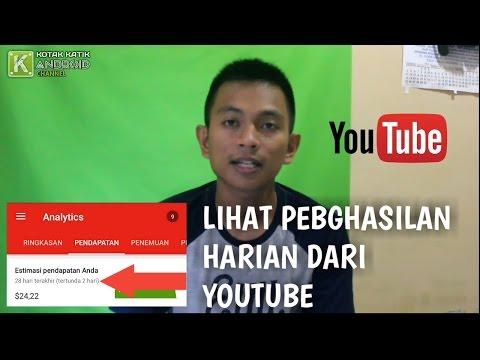 Cara Melihat Penghasilan Harian Dari YouTube Dengan Smartphone Android