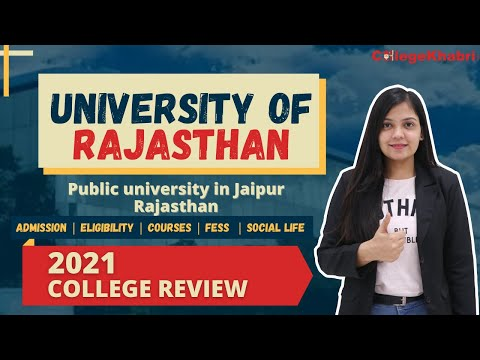 University Of Rajasthan Jaipur   Admission Process   Fees   Campus   Hostel   Detailed Analysis 2021